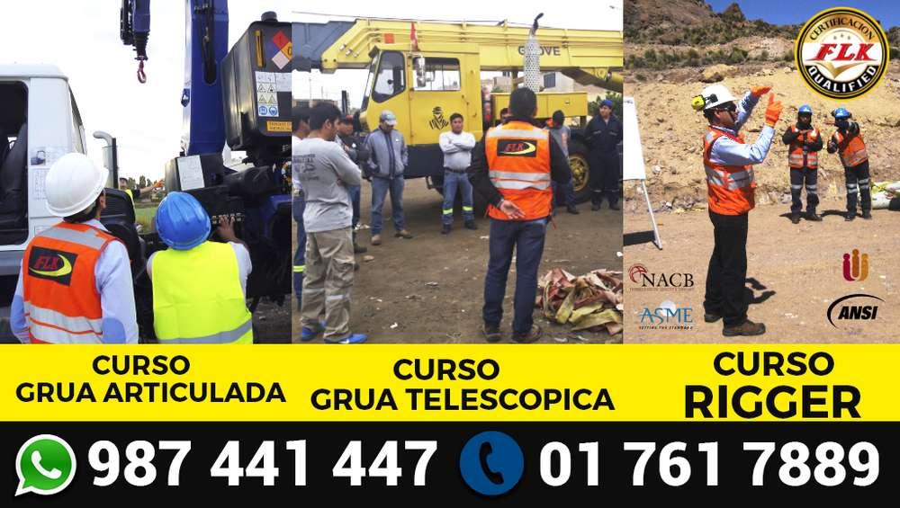 CAPACITACION Y CERTIFICACIÓN DE OPERADORES DE GRUA ARTICULADA, TELESCÓPICA, TORRE, RIGGER, ETC.