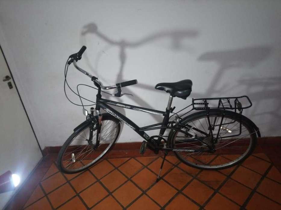 Bicicleta Urbana con Cambios Y Suspensio