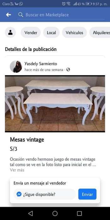Alquiler de Mesas Vintage