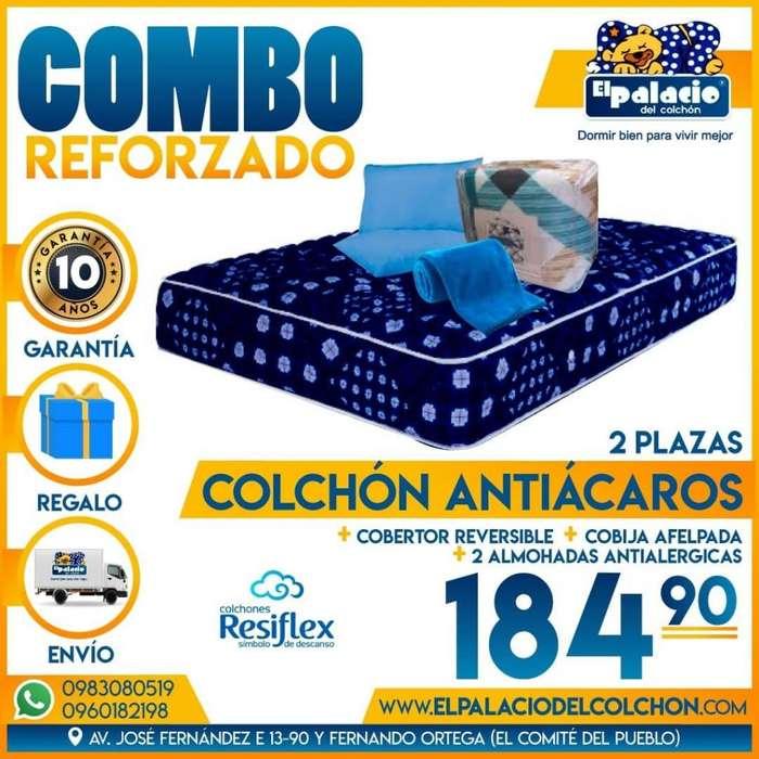 !!! COLCHONES PROMOCIONES !!! COLCHÓN 2 Plz Mas EDREDÓN Mas COBIJA Mas <strong>almohadas</strong> Mas ENTREGA GRATIS !!*0983080519*!!