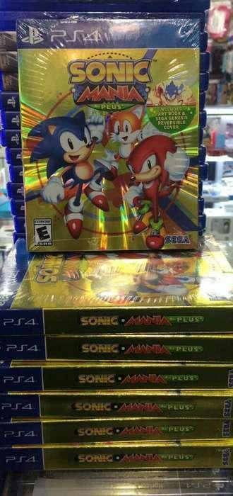 Sonic Mania Plus Ps4 Nuevo Sellado Stock