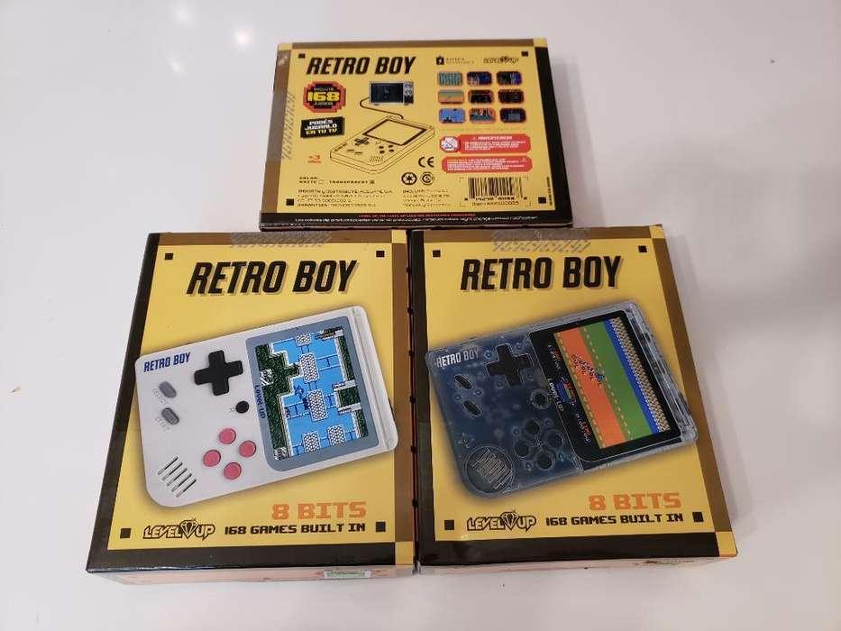Consola Retro Boy Incluye 168 Juegos 0km
