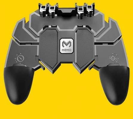 control para celular 4 gatillos ergonomico ajustable ideal para call of duty mobile, free fire y pugb.