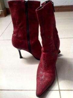 botas rojas excelente estado