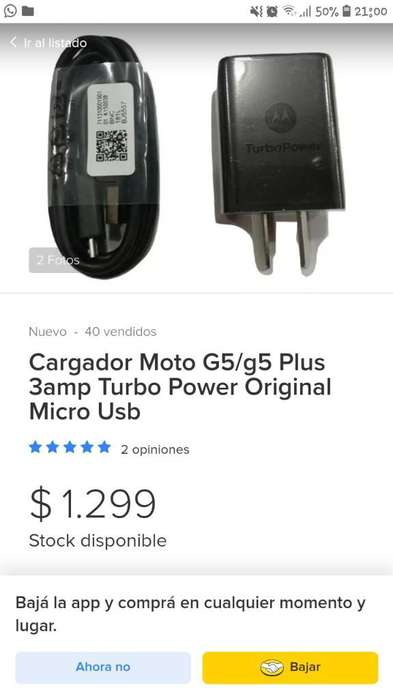 Cargador Motorola (turbo Power )original