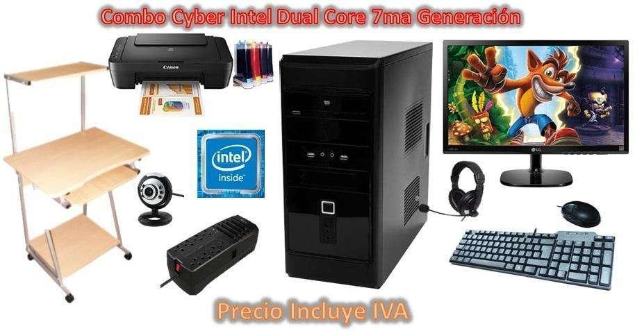 Cyber 5 Computadoras Dual Core Completas Y Nuevas I3 i5 i7 PRECIO INCLUYE IVA ENTREGA A DOMICILIO