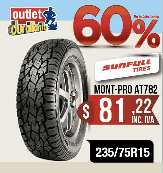 LLANTAS 235/75R15 SUNFULL MONT-PRO AT783 LUV D-MAX BT-50 KORANDO A230 Montero Sport
