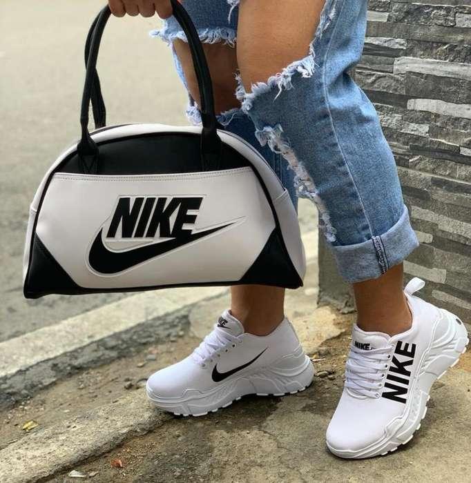 Tenis Nike de Dama Combo Bolso