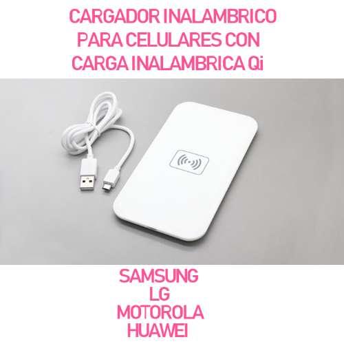 Cargador Inalambrico Para Celulares Samsung-Iphone-Moto-Nokia-