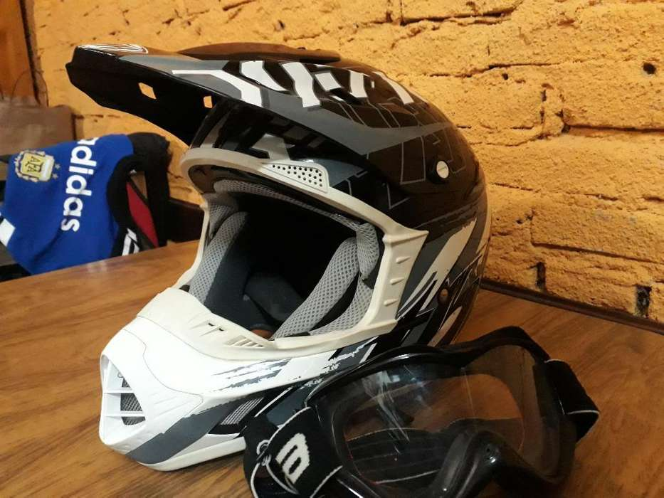 Casco Motocross Antiparras