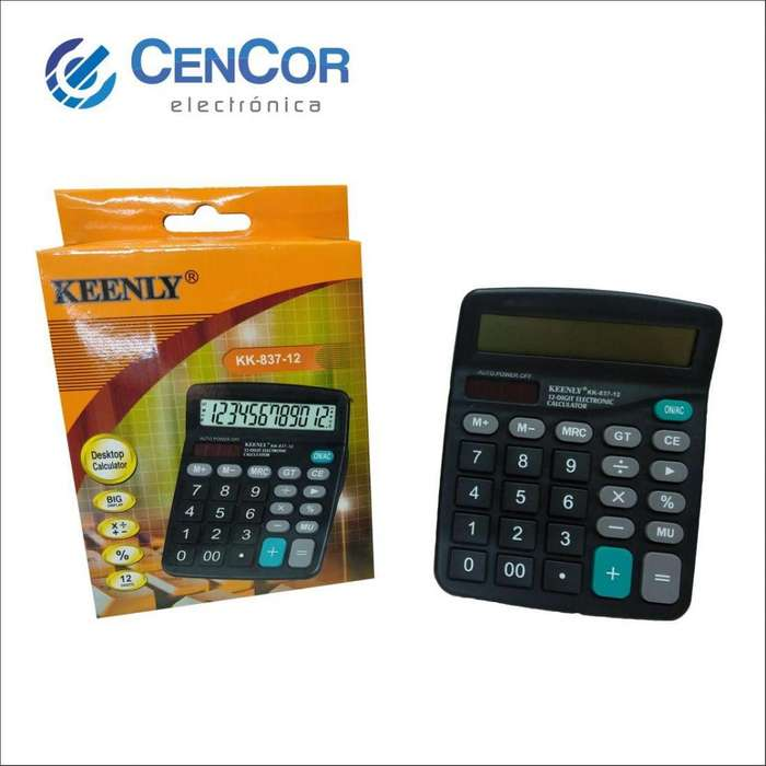 Calculadora Kk837 12 Dígitos! Cencor Electrónica