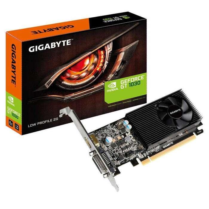 vendo tarjeta de video nvidia gt 1030 2gb ddr5 marca gigabyte