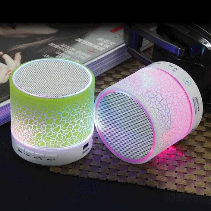 Mini Parlante Bluetooth Portable Luz Led Usb Aux Fm MicroSd