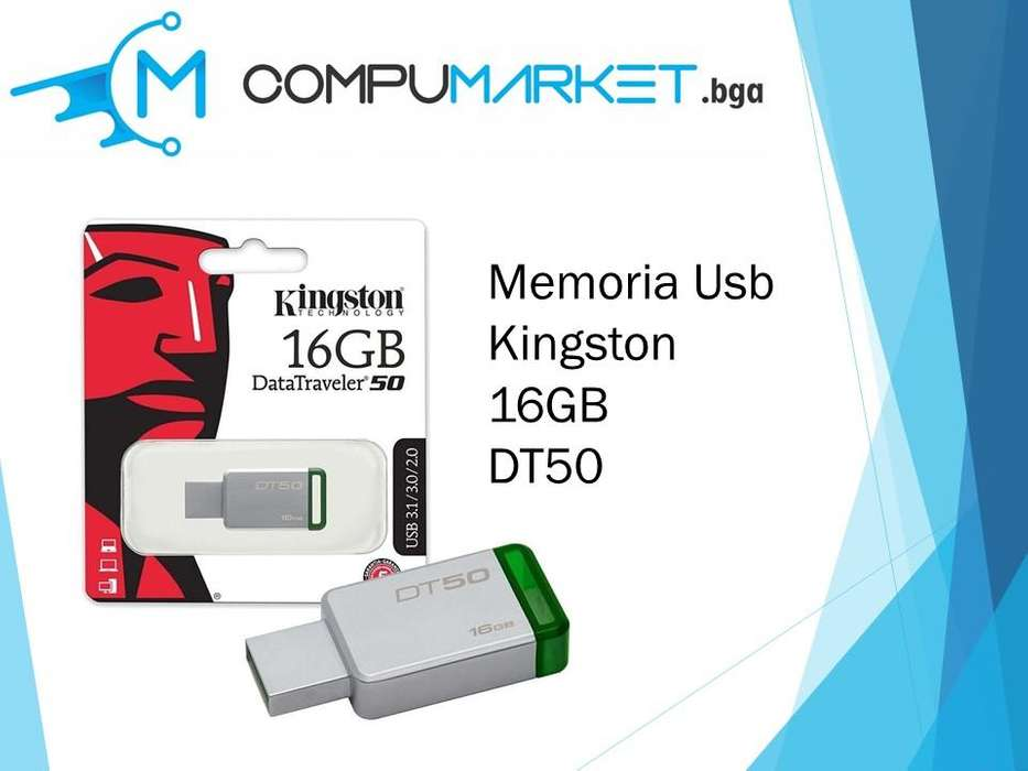 Memoria usb kingston 16gb dt50 nuevo y facturado