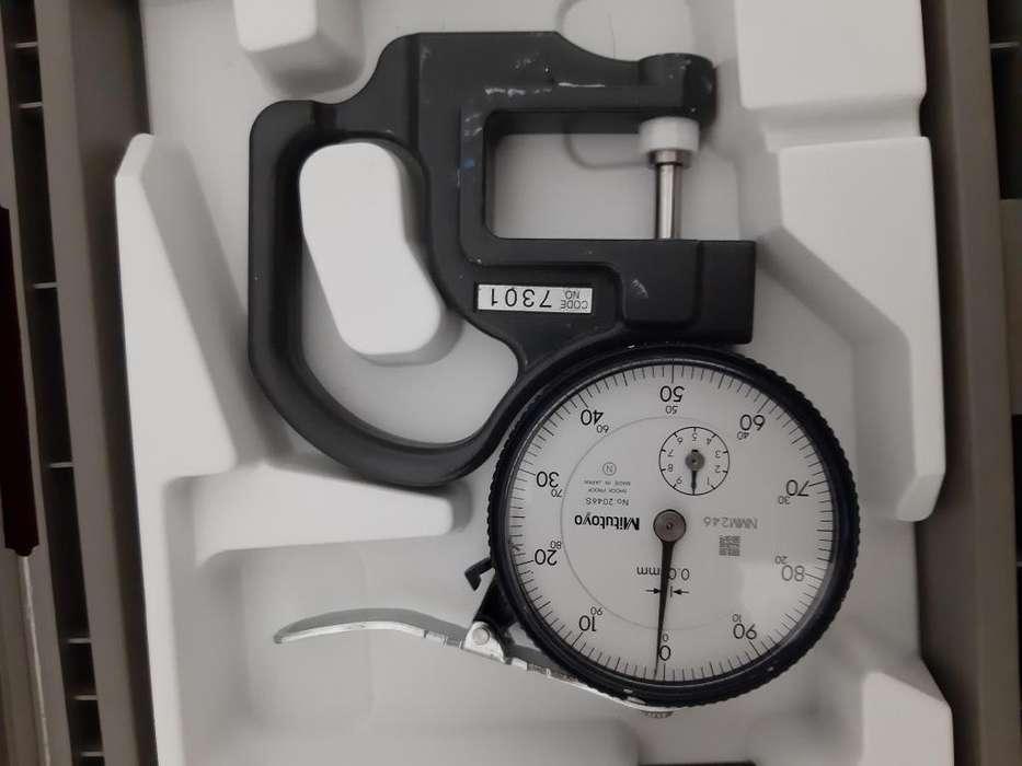 Medidor Calibrador espesores Mitutoyo 7301 Dial Gage Yunque Plano 0-10