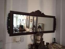 Aparador Antiguo Renacimiento Italiano Con Espejo