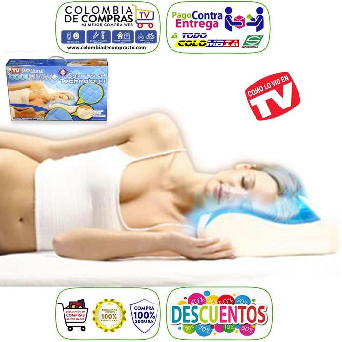 Almohada De Gel TV Cool Pillow De Restform Nuevas, Originales, Garantizadas