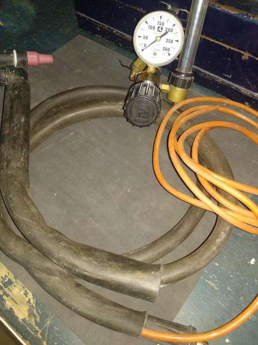 Regulador para Gas Argon con Trocha