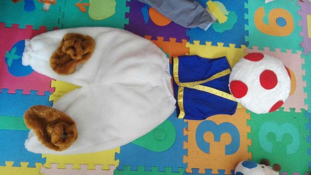 Disfraz de Toad Hongo de Mario Bros