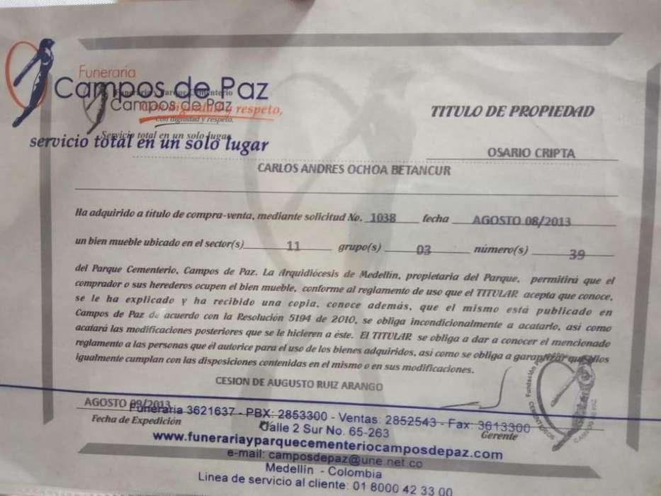 VENTA DE OSARIO EN <strong>campo</strong>S DE PAZ