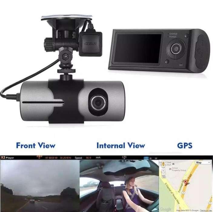 CÁMARA DUAL GPS PARA CARROS