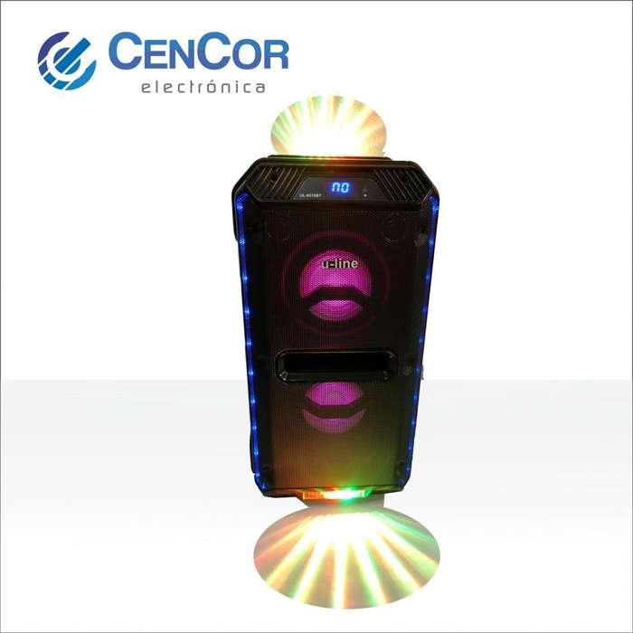 Parlante Portátil Luminoso Uline! Gran Potencia! CenCor Electrónica