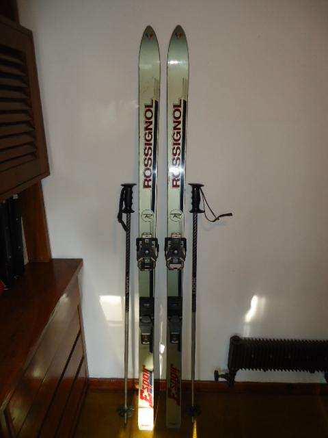 TABLAS DE SKI ROSSIGNOL ESPOIR 175cm Esquies c/ bastones LOOK