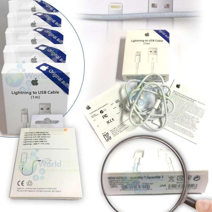 Cable De Datos Usb Iphone 5 5s C 6 6s 7 8 Plus X 1m Origi