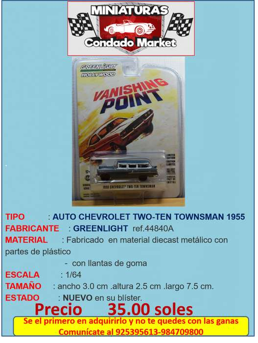 AUTO CHEVROLET TWO-TEN TOWNSMAN 1955