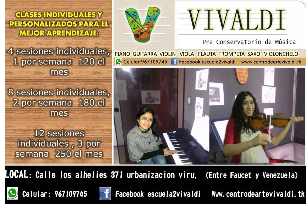 Pre conservatorio de Música violin piano guitarra viola trompeta clases