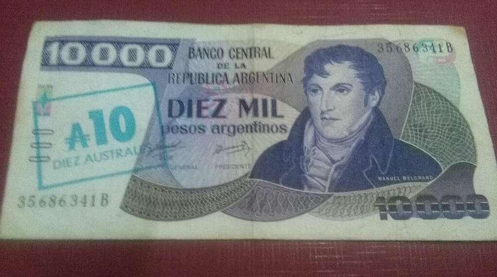 Billete Argentina Resellado