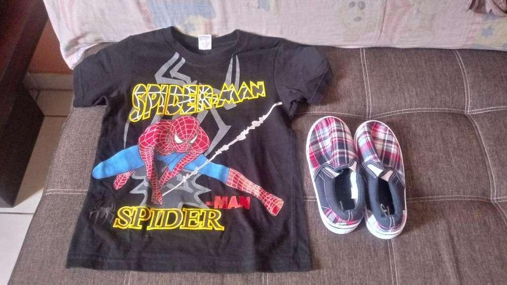 Zapatos Y Camiseta de Niño