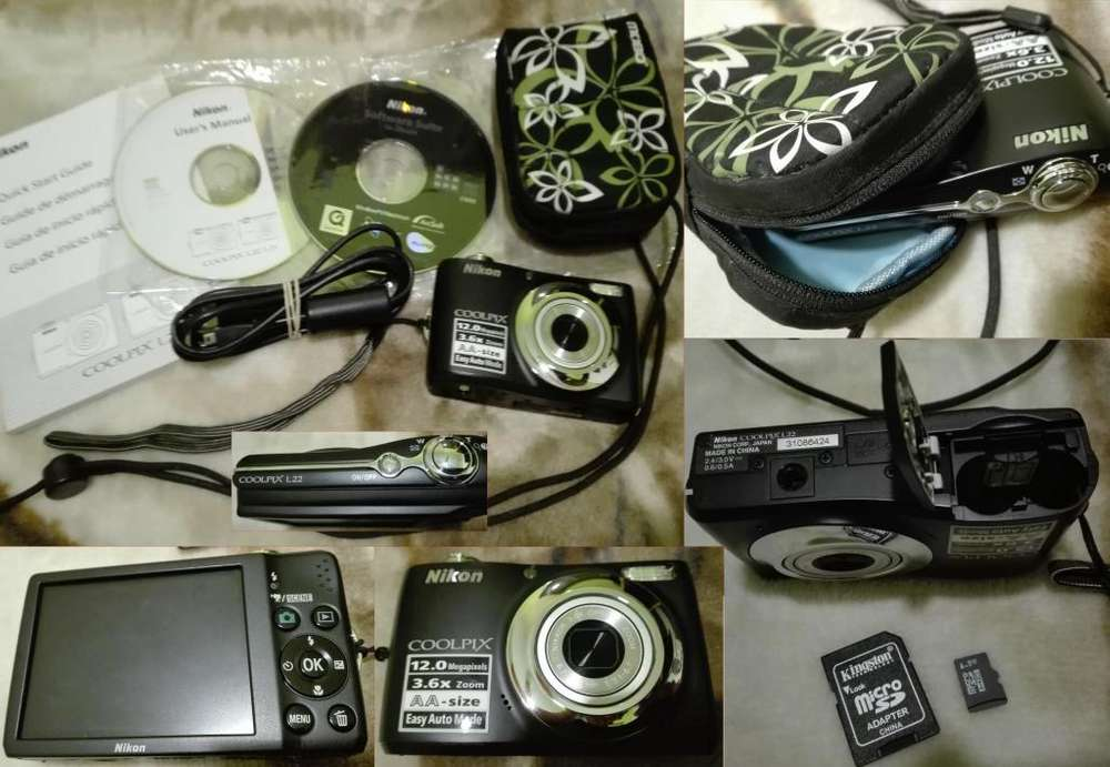 Camara Nikon Coolpix L22 Impecable