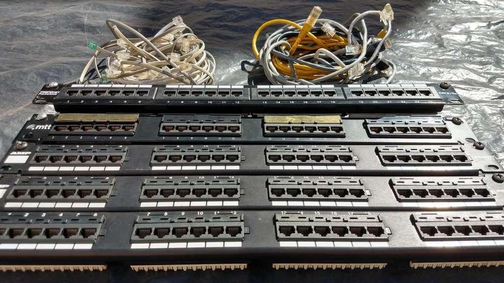 5 Patcheras Cat5e con Cables de Regalo