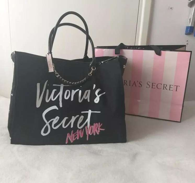 Bolso <strong>cartera</strong> tote Victoria's Secret nuevo negro