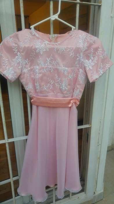 Vestido de Fiesta para 11 - 12 Años, tela de gasa y tul, bordado