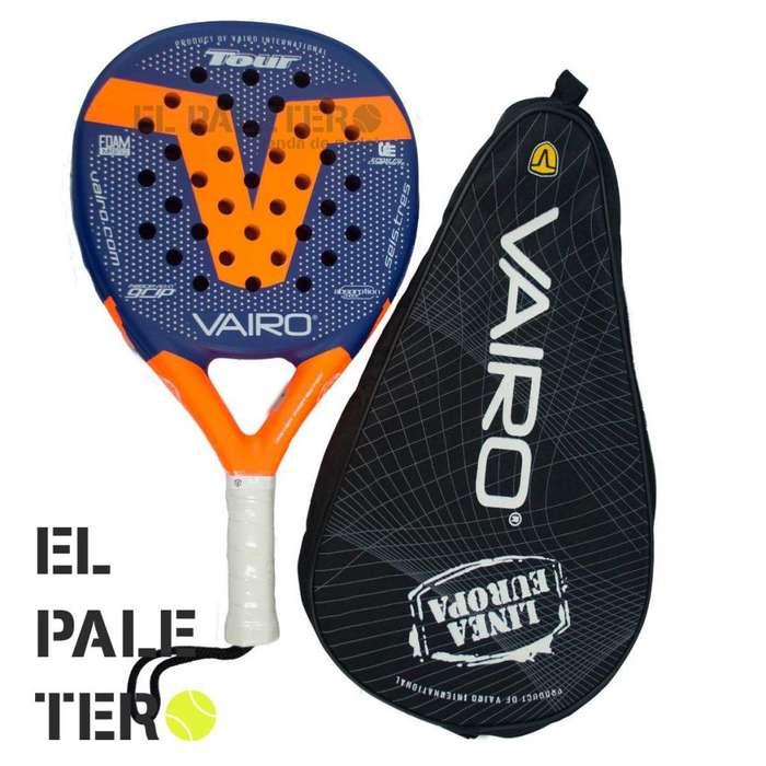 Paleta Padel Vairo 6.3 Tour Funda Grip Protector