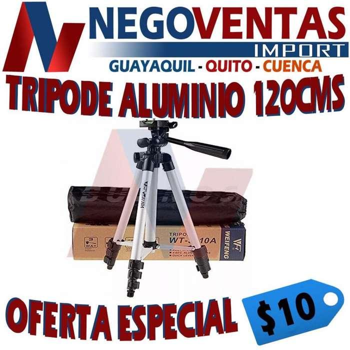 TRIPODE DE ALUMINO 120 CMS PARA CELULARES