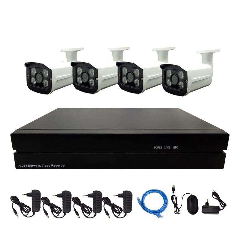 Kit De Seguridad IP NVR 4 Cámaras 1080P