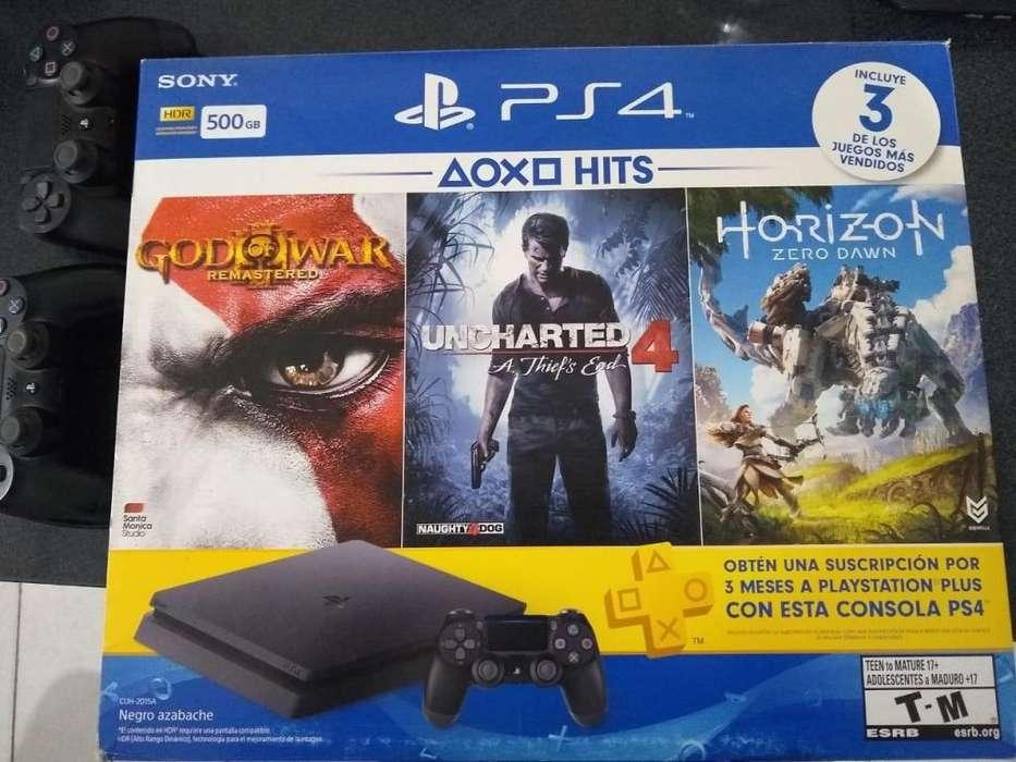 Playstation 4 con 2 joysticks y juegos