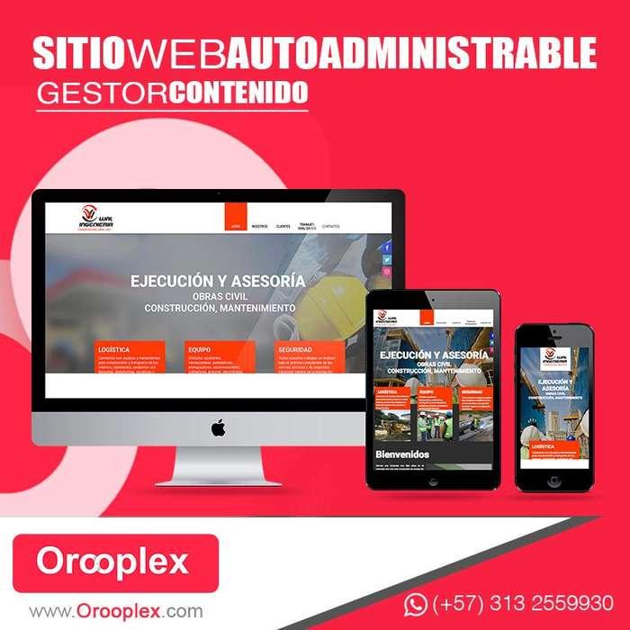 Diseño de Páginas Web Profesionales, INCLUYE: Hosting, Dominio y Correo Corporativo Cel:3132559930