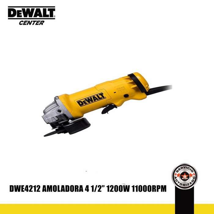 AMOLADORA ANGULAR 41/2 PULG 1200W DWE4212