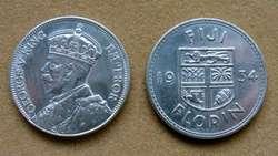 Moneda de 1 penique,  Islas Fiji bajo Administración Británica 1943
