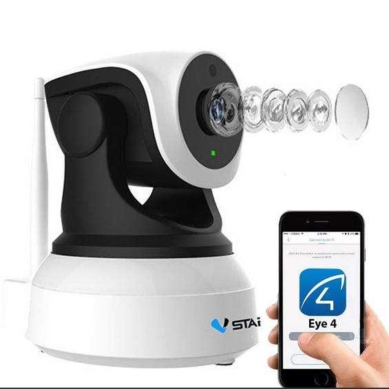 Cámara de Seguridad Wifi Inalámbrica Robótica Sensor Movimiento, Visión Nocturna