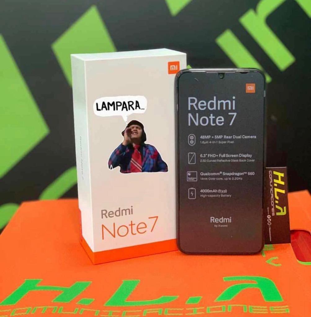 Xiaomi Note 7 64Gb / 128Gb nuevos factura garantia domicilio sin costo HLACOMUNICACIONES