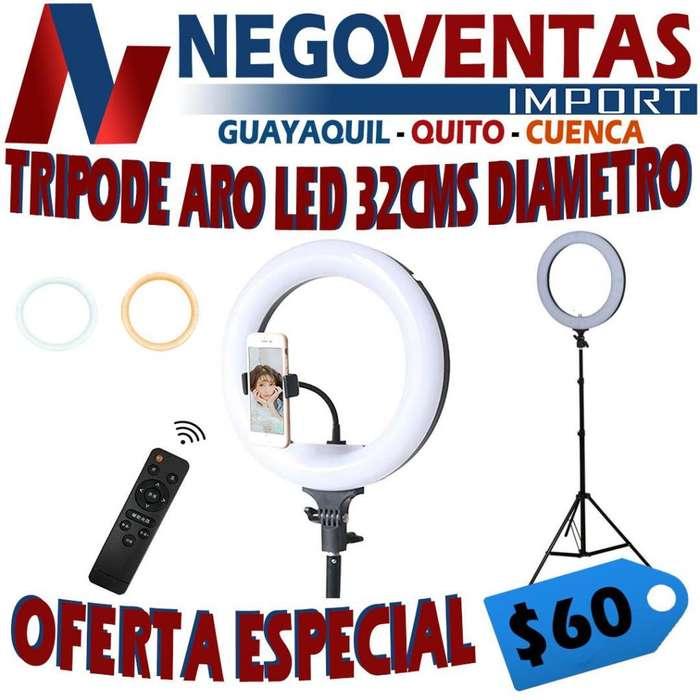 TRIPODE ARO LED 32 CMS DIAMETRO
