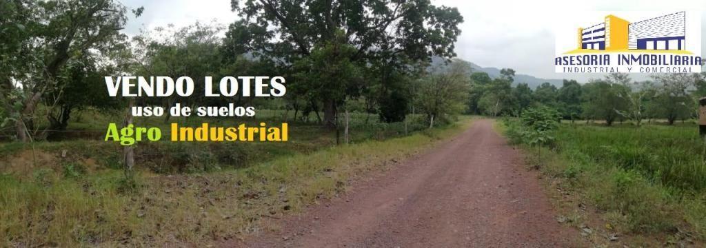 LOTES AGROINDUSTRIALES EN VENTA Desde 1 Hectarea en Adelante