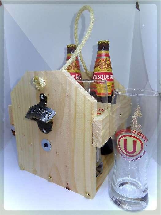 vendo porta cervezas rustico