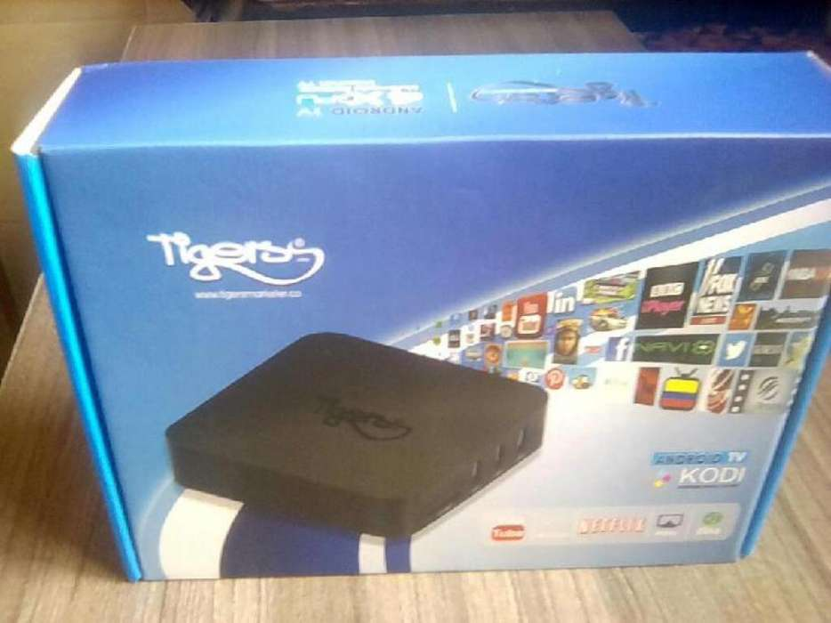 Tv Box Tiger Barato Androidtv Sincontrol