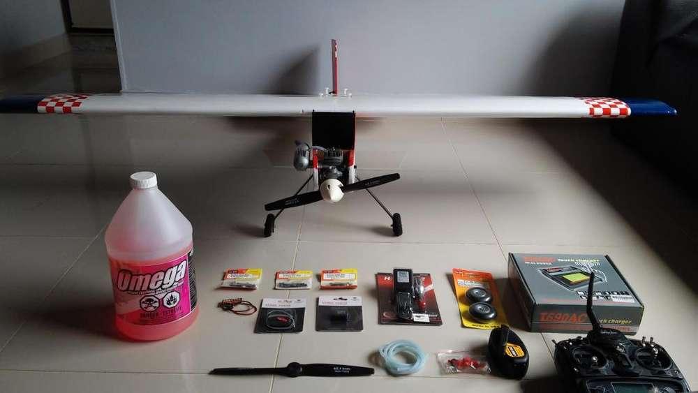 Aeromodelo trainer avion rc ala alta